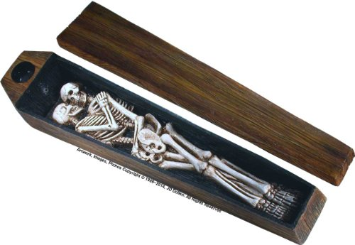 Nose Desserts Dead Lovers Coffin Box Casket - Stick and Cone Incense Ash-catcher - Burner -