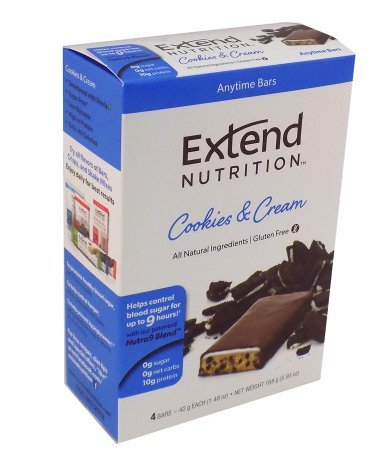 Extend Nutrition Bars Cookies & Cream 1.48 oz. x 4 packs -