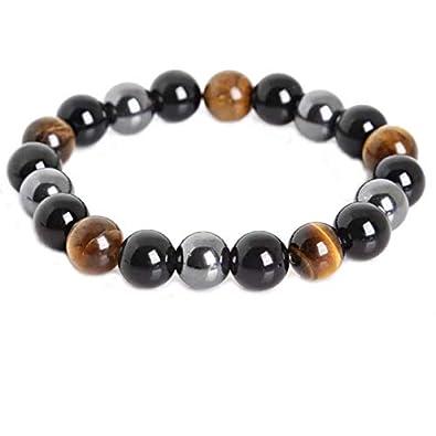 7eee8b81f06f8 ARMONY Bracelet Triple Protection,🇫🇷Marque Française🇫🇷 ♥Pierre  Naturelle Véritable♥