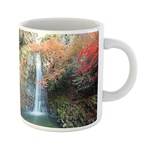 Semtomn Funny Coffee Mug Beautiful Scenery of Grand Waterfall Tumbling Down the Rocky 11 Oz Ceramic Coffee Mugs Tea Cup Best Gift Or Souvenir