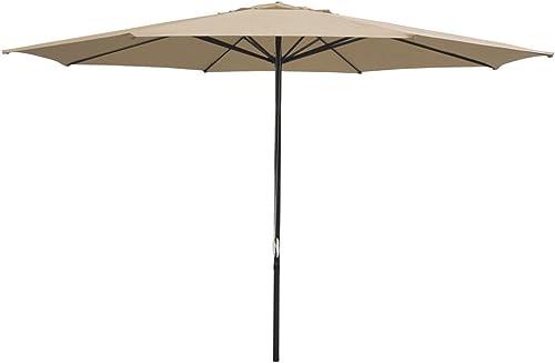 KOVAL INC. Patio Furniture Table Market Umbrella: 13' Tan/Khaki