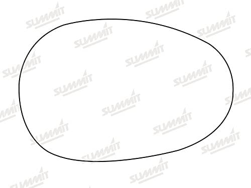 Fits on lhs of vehicle Summit Replacement Wide Angle Mirror Glass