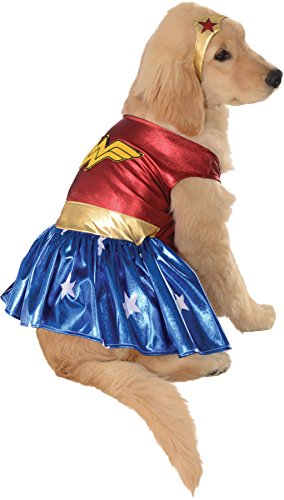 UHC Wonder Woman Justice League Superhero Fancy Dress Halloween Pet Dog Costume, XL -