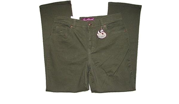 Gloria Vanderbilt Womens Amanda Classic Twill Trouser Pants Khaki Beige Short