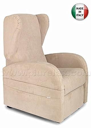 fauteuil relax lectrique 2 moteurs kit roller accoudoirs amovibles dispositif mdical fabriqu en italie beige - Fauteuil Relax Electrique Medical