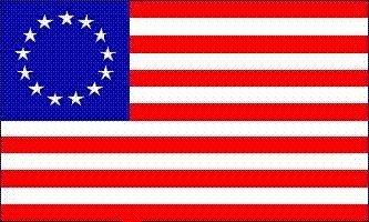 [3' x 5' Betsy Ross USA 13 Stars Flag] (1776 Flag)