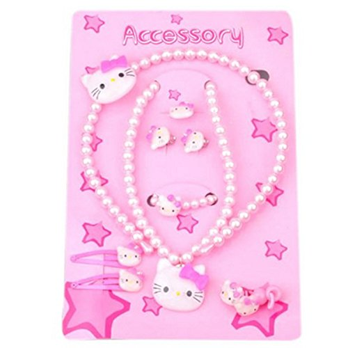 Wrapables Childrens Kitty Beaded Jewelry