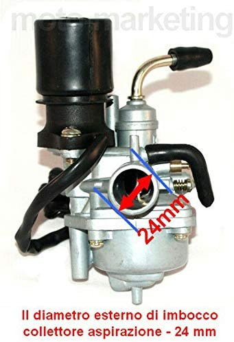 Unbranded Racing 17,5mm CARBURATORE Auto COLLETTORE per MBK Booster Spirit NG Target 50