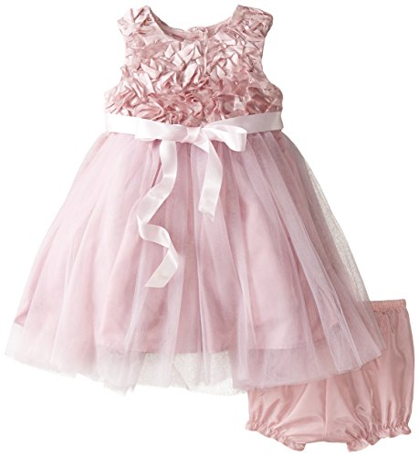 Marmellata Baby-Girls Infant Rosettes and Tulle Dress, Rosettes Pink, 18 (Pink Tulle Rosette)
