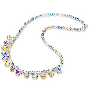 LADY COLOUR Jewelry Gifts for Mom, A Little Romance Women Necklace Jewelry, Aurora Crystals from Swarovski…