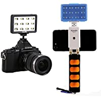 LED Video Light Commlite CM-PL12B II High CRI>95 Super bright Portable Multi-functional Mini Video Light for Smartphone Iphone 6,6S,7,7 Plus,Huawei,Samsung, Canon camera(Black)