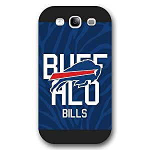Customized NFL Series For SamSung Galaxy S4 Case Cover NFL Team Buffalo Bills Logo For SamSung Galaxy S4 Case Cover Only Fit for For SamSung Galaxy S4 Case Cover (Black Frosted Shell)