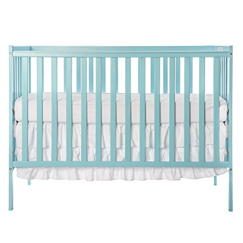 Pine Twin Size Daybed - Dream On Me Synergy 5-in-1 Convertible, Crib, Aqua Sky
