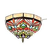 FixtureDisplays Tiffany Style Wall Sconces Fixture Light Hall Bedroom Lamp 16698