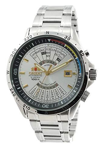 Automatic 21 Jewels Orient - Orient Sports Automatic Multi-Year Calendar Silver Dial Watch EU03002W