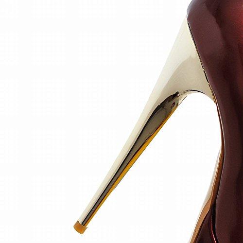 Spicco Donna MissSaSa Affascinante High Scarpe Vino Rosso Heel zfxU6