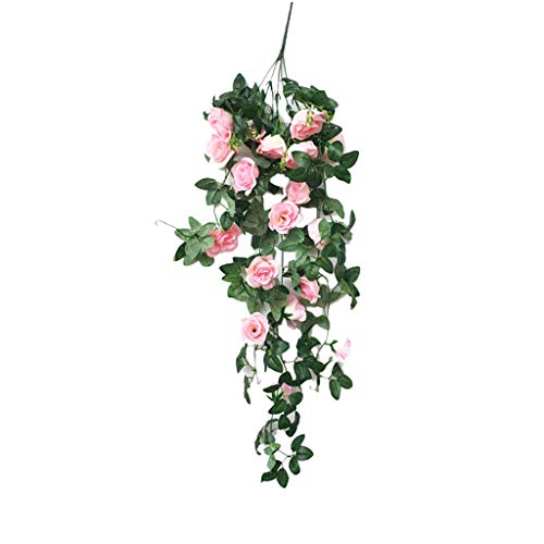 - CCatyam Artificial Hanging Flowers, Lifelike Fake Plants Wisteria Bouquet, Basket Wall Decor Party Home Garden Wedding