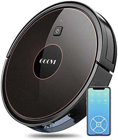 GOOVI Robot Vacuum, 1600PA Robotic Vacuum Cleaner with Wi-Fi, Super-Thin, Self-Charging Robot Vacuum Cleaner, Best for Pet Hairs Hard Floors Medium-Pile Carpets