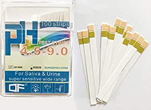 100pcs ph4.5~9.0 PH Test Paper Strips for Acidic and Alkaline, for test Aquarium water, Drinking Water, Cosmetic, Fruit, Body PH level Test