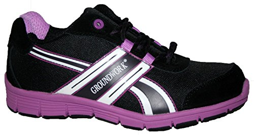 Groundwork Gr95 - Zapatillas de seguridad Unisex adulto Lilac/Black