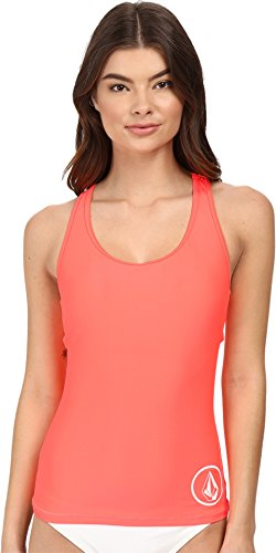 Volcom Women's Simply Solid Tankini, Neon Pink, Small
