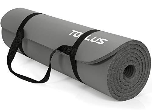 TOPLUS Verdikte gymnastiekmat, ftalaatvrije yogamat, antislip en gewrichtsvriendelijk, sportmat voor yoga, pilates…