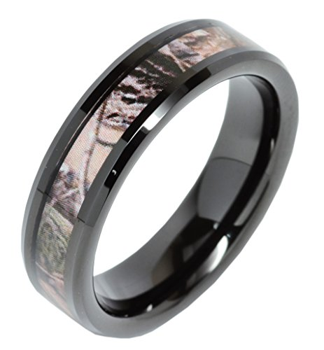 Tungsten Carbide Camouflage Plated Wedding