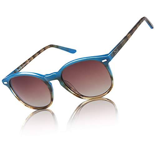 DUCO Classic Polarized Sunglasses for Women Round Vintage Shades DC1230