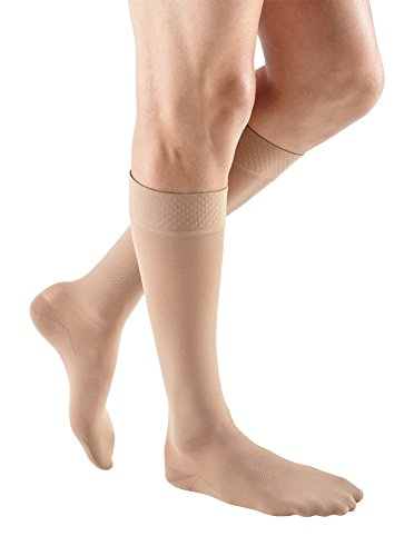 (mediven Plus, 20-30 mmHg, Calf High w/Silicone Topband, Closed Toe)
