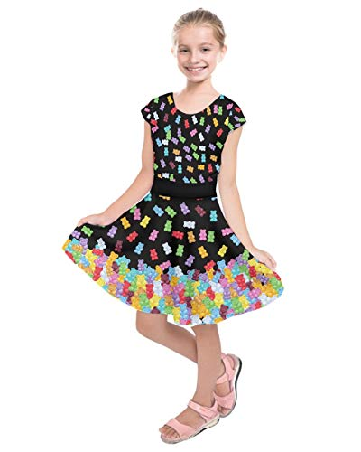 PattyCandy Girls Fashion Black Candy Adorable Bear Kids Casual Dress - 7]()