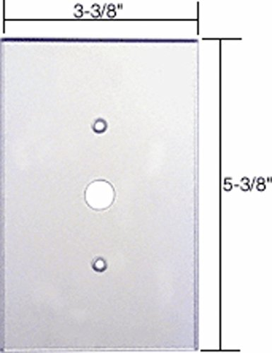 CRL Single Dimmer Switch Acrylic Mirror Plate - Clear