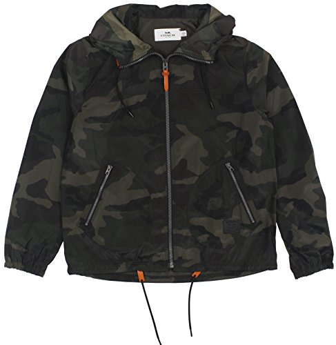 Coach Men's Camouflage Nylon Trainer Jackets Large Green Camo