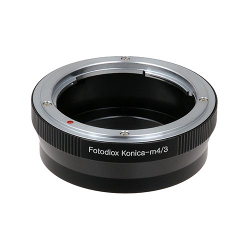 Fotodiox Lens Mount Adapter - Konica Auto-Reflex (AR) SLR Lens to Micro Four Thirds (MFT, M4/3) Mount Mirrorless Camera Body (Konica Mount)