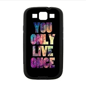 Case ,Watercolor Word YOLO(You Only Live Once) Samsung Galaxy S3 I9300 TPU (Laser Technology) Case, Cell Phone Cover