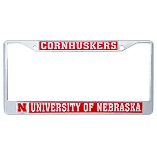 Desert Cactus University of Nebraska Cornhuskers Metal License Plate Frame for Front Back of Car Officially Licensed (Mascot)