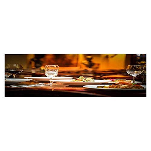 Leighhome Aquarium Background The Delicacy and Goblet on The Table Wallpaper Fish Tank Backdrop Static Cling L29.5 x H17.7