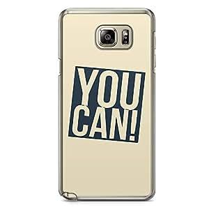 Samsung Note 5 Transparent Edge Phone Case You Can Phone Case Motivation Phone Case Gymstrong Note 5 Cover with Transparent Frame