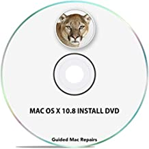 Mac OS X 10.8 Install Disc Mountain Lion Upgrade Update Recovery OSX Installer Software DVD CD