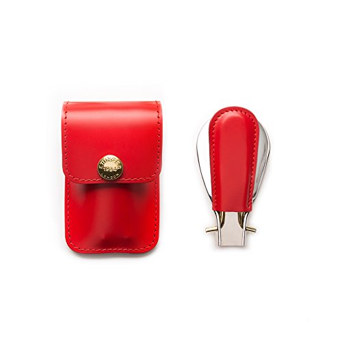 Ettinger Bridle Hide Collection Travel Shoe Horn In Pouch, Red/Silver by Ettinger (Image #1)