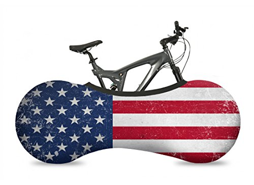 - VELOSOCK Bicycle Bike Cover USA Flag for Indoor Storage - Keeps Floors and Walls Dirt-Free - Fits 99% of All Adult Bicycles