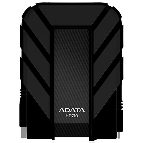 ADATA HD710 2TB USB 3.0 Waterproof/ Dustproof/ Shock-Resistant External Hard Drive, Black (AHD710-2TU3-CBK) by ADATA USA