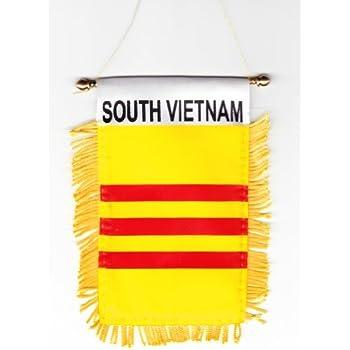Amazon.com: Bandera de Vietnam del sur Amarillo País Lanyard ...
