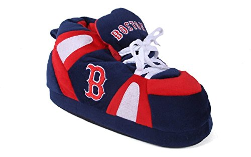 BRS01-5 Boston Red Sox - XX-Large - Happy Feet Mens and Womens Slippers
