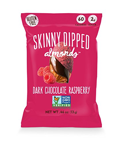 Cocoa Chocolate Raspberry (Wild Things Skinny Dipped Dark Chocolate Almonds (.49 Ounce) 10-Pack (Raspberry))