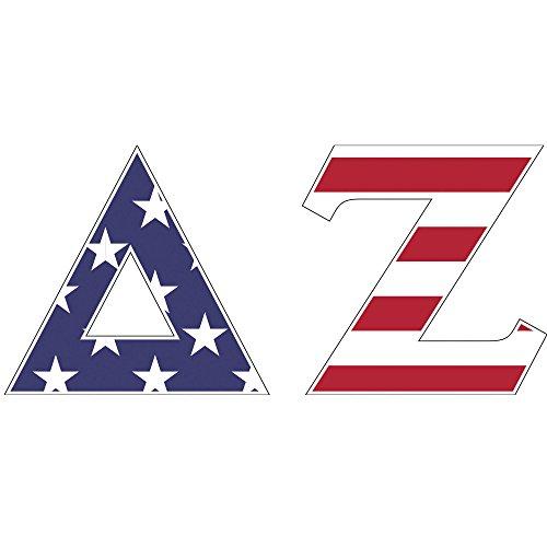Delta Zeta Sorority USA Letter Sticker Decal Greek 2 Inches