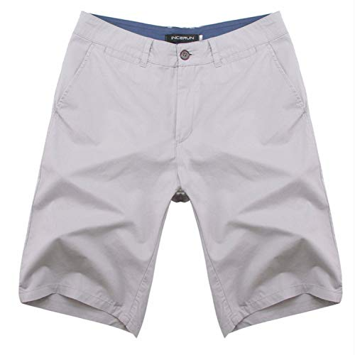 - romantico 2019 Summer Men's Bermuda Shorts Casual Cargo Shorts Cotton Knee Length Chinos Sweatpants Shorts Big Size,Gray,32