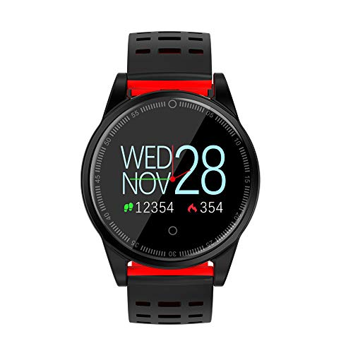 Waterproof Watch For Boys, Smart Watch Heart Rate Pedometer Outdooor R13S Bracelet Watch Multiple Fitness Modes Exercise Anti-Lost Alert (Red) ()