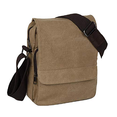 Bag color Retro Hhgold Men Brown New For Mens Brown Handbag Leisure Messenger Business Shoulder Canvas School fqqwOY5