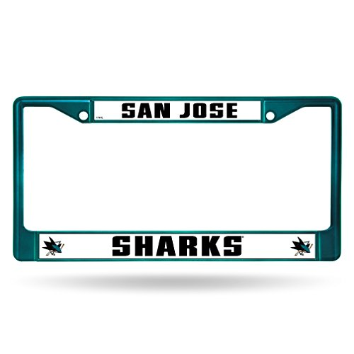 Rico Industries NHL San Jose Sharks Team Colored Chrome License Plate Frame, Blue ()