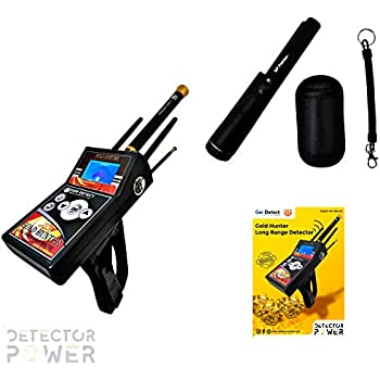 GER DETECT Gold Hunter Professional Geolocator Long Range Metal Detector - Underground Depth Scanner, Geolocation Tracker & Distance Targeting for Gold, ...
